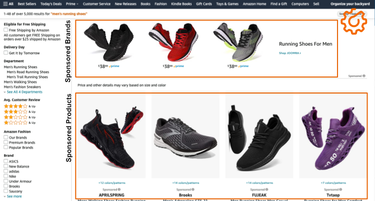 Amazon Sponsored Brands and Products Example